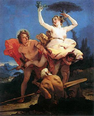 Digital Art - Tiepolo Apollo And Daphne by Giovanni Battista Tiepolo