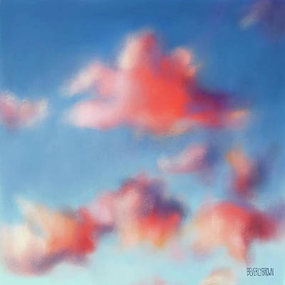 Sky Blue Painting - Tiepolo Clouds by Beverly Brown