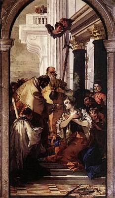 Digital Art - Tiepolo Last Communion Of St Lucy by Giovanni Battista Tiepolo