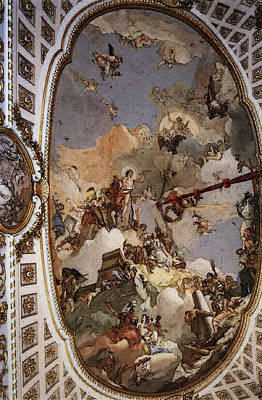 Digital Art - Tiepolo Palacio Real The Apotheosis Of The Spanish Monarchy by Giovanni Battista Tiepolo