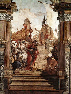 Digital Art - Tiepolo Palazzo Labia The Meeting Of Anthony And Cleopatra by Giovanni Battista Tiepolo