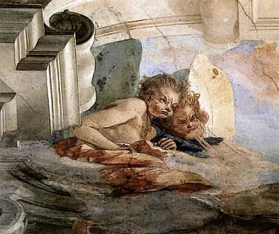Digital Art - Tiepolo Palazzo Labia The Wind  by Giovanni Battista Tiepolo