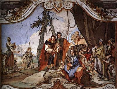 Paint Digital Art - Tiepolo Palazzo Patriarcale Rachel Hiding The Idols From Her Father Laban by PixBreak Art