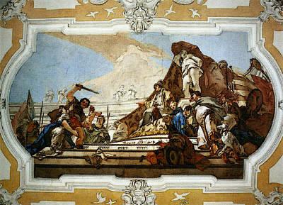 Digital Art - Tiepolo Palazzo Patriarcale The Judgment Of Solomon by Giovanni Battista Tiepolo
