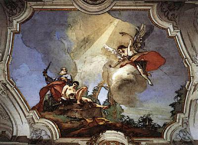 Digital Art - Tiepolo Palazzo Patriarcale The Sacrifice Of Isaac by Giovanni Battista Tiepolo