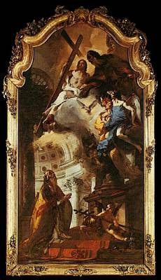 Digital Art - Tiepolo Pope St Clement Adoring The Trinity by Giovanni Battista Tiepolo