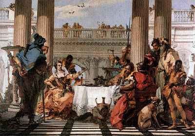 Digital Art - Tiepolo The Banquet Of Cleopatra by Giovanni Battista Tiepolo