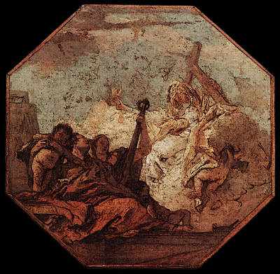 Digital Art - Tiepolo The Theological Virtues by Giovanni Battista Tiepolo