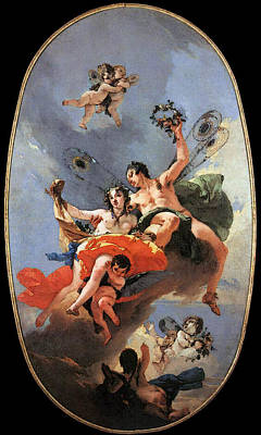 Digital Art - Tiepolo The Triumph Of Zephyr And Flora by Giovanni Battista Tiepolo