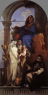 Digital Art - Tiepolo The Virgin Appearing To Dominican Saints by Giovanni Battista Tiepolo