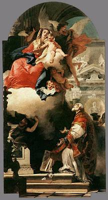Digital Art - Tiepolo The Virgin Appearing To St Philip Neri by Giovanni Battista Tiepolo