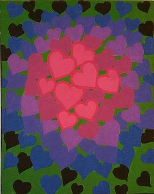 Tiered Hearts Original by Holly Grootonk