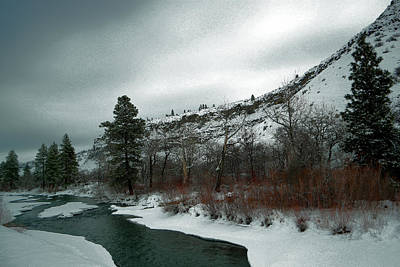 Gelid Photograph - Tieton River Snow Covered by Jeff Swan