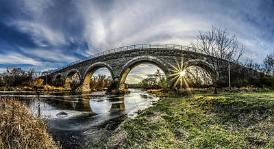 Tiffany Bridge Panorama Art Print