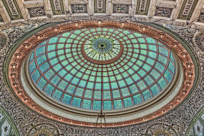 Photograph - Tiffany Dome - Chicago Cultural Center by Nikolyn McDonald