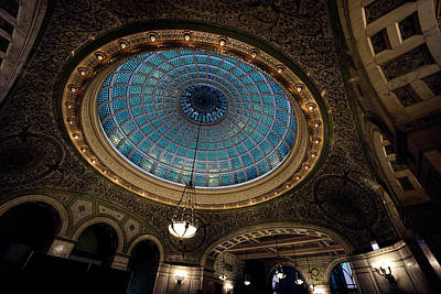 Photograph - Tiffany Dome - Chicago by Daniel Hagerman