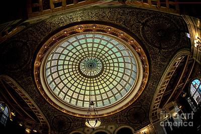 Photograph - Tiffany Dome - Chicago by David Bearden