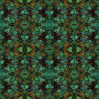 Digital Art - Tiffany Marble Green by Deborah Runham