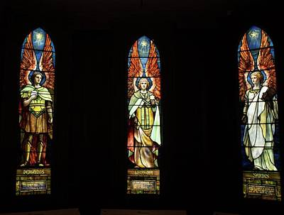 Photograph - Tiffany Stained Glass Angels 2 by Michael Saunders