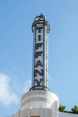 Photograph - Tiffany Tower - Miami Beach by Art Block Collections