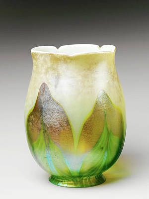 Photograph - Tiffany Vintage Glass Vase 021017 by Rospotte Photography