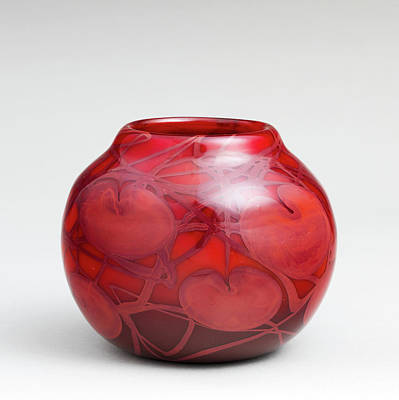 Photograph - Tiffany Vintage Red Vase 21017 by Rospotte Photography