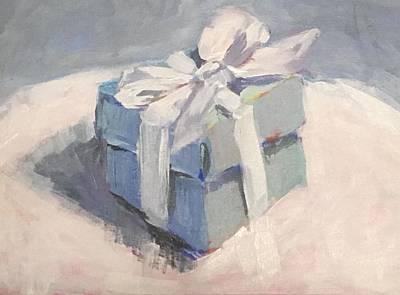 Painting - Tiffany's Box by Susan Elizabeth Jones
