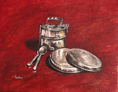 Tiffin Carrier - Still Life Art Print by Usha Shantharam