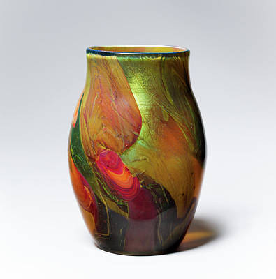 Photograph - Tiffiny Vase Amber 020917 by Rospotte Photography
