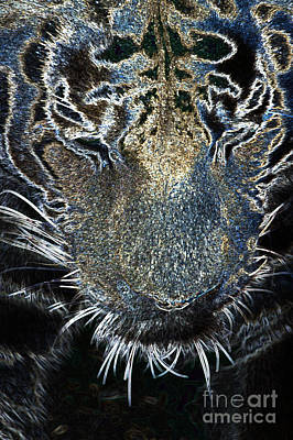 Digital Art - Neon Animals - Tiger 2 by Wendy Wilton