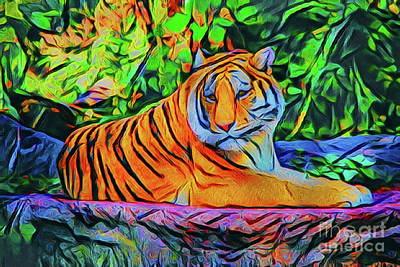 Photograph - Tiger 20718 by Ray Shrewsberry