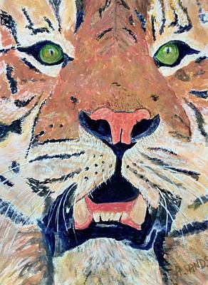 Painting - Tiger Alert by Anne Sands