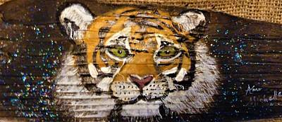 Mixed Media - Tiger by Ann Michelle Swadener