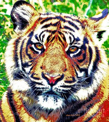 Painting - Tiger Art by Annie Zeno