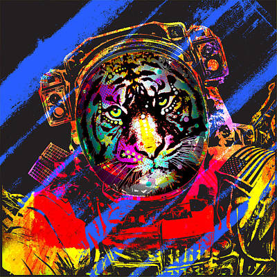 Painting - Tiger Astronaut by Gary Grayson