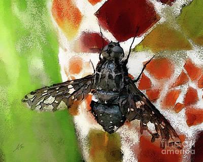 Fuzzy Digital Art - Tiger Bee by Anita Faye