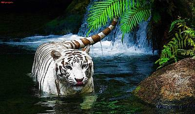 The Tiger Painting - Tiger by Bjvporjats
