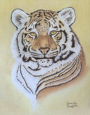 Pastel - Tiger by Brenda Bonfield