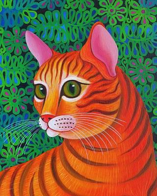 Orange Tabby Painting - Tiger Cat by Jane Tattersfield