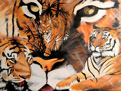 Bangles Painting - Tiger Collector by Steven Williford