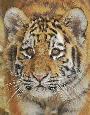 Tiger Cub Digital Art - Tiger Cub 2 by Ernie Echols