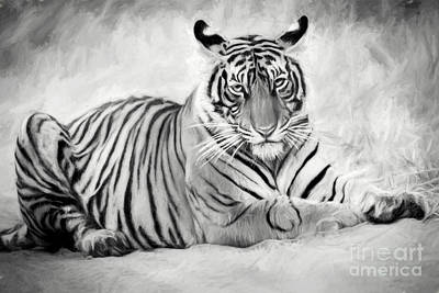 Digital Art - Tiger Cub At Rest by Pravine Chester