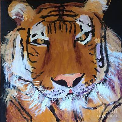 Painting - Tiger by Donald J Ryker III