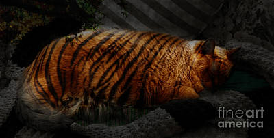 Digital Art - Tiger Dreams by Kathi Shotwell