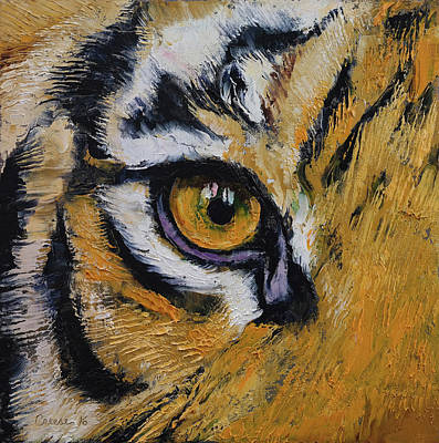 Tiger Eyes Painting - Tiger Eye by Michael Creese