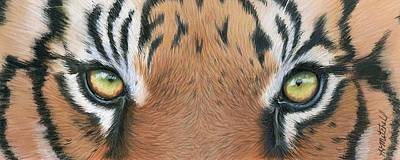Clemson Drawing - Tiger Eyes by Heather Mitchell