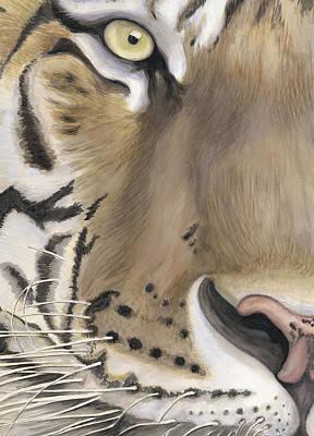Tiger Face Art Print by Patty Vicknair