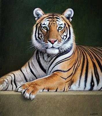 Wildlife Painting - Tiger by Gabriel Hermida