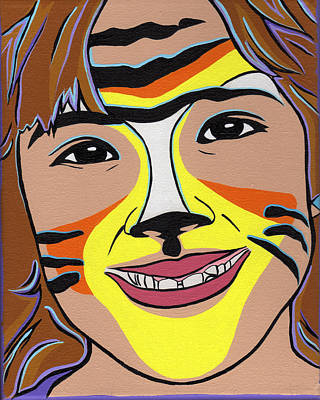Tiger Girl Art Print by Lucia  Perez