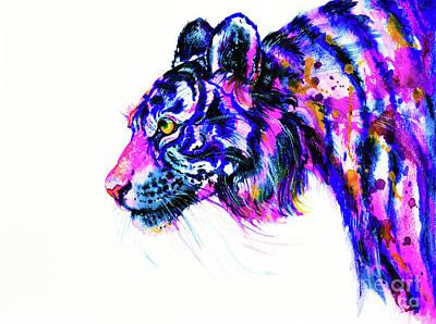 Painting - Tiger Glance by Zaira Dzhaubaeva